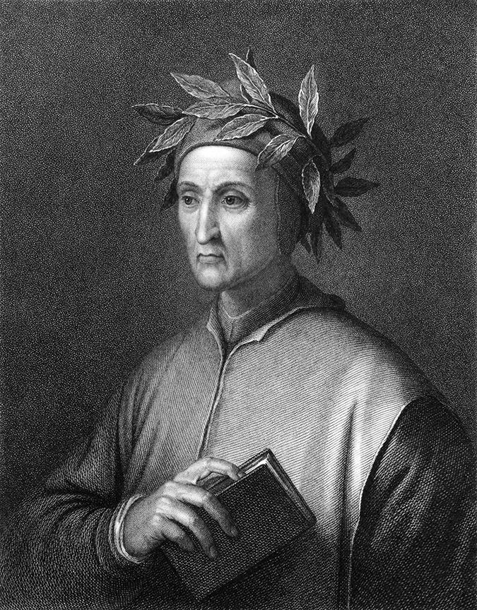 Dante Alighieri engraving embed shutterstock