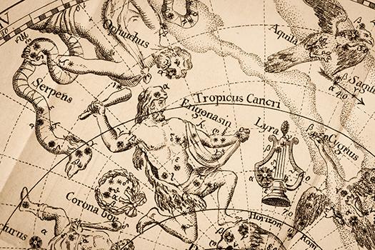 antique constellation map shutterstock