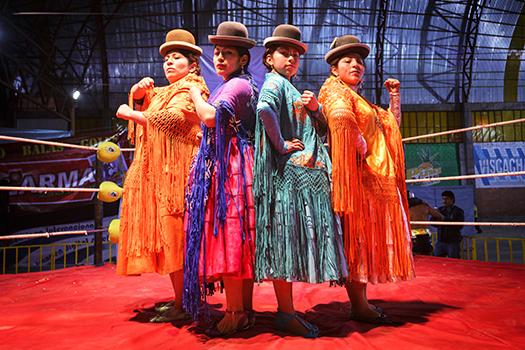 cholita wrestlers bolivia shutterstock