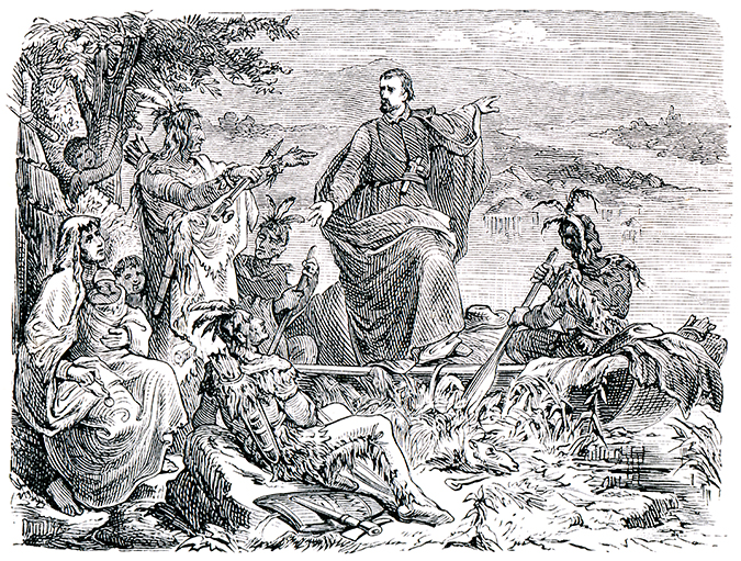 jacques marquette engraving shutterstock