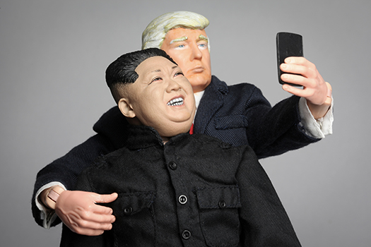 kim trump selfie art shutterstock