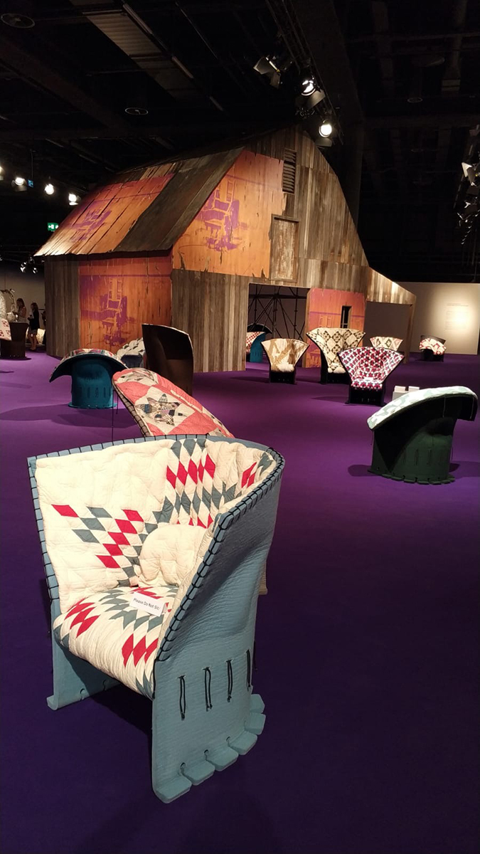 raf simons quilt chairs miami design