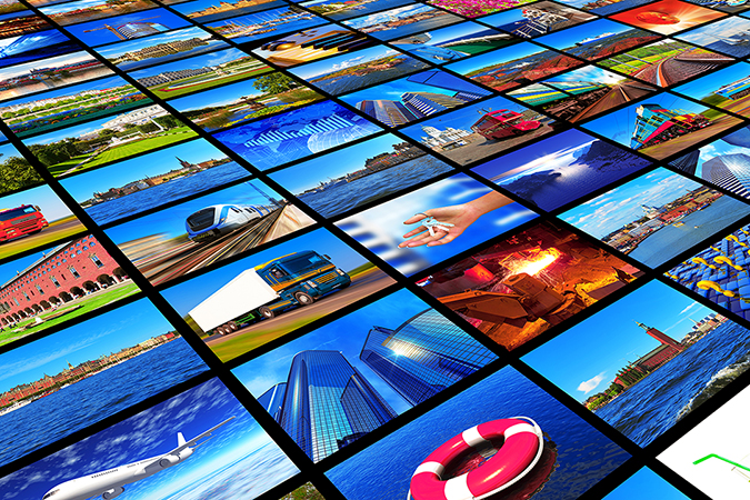 wall of world images shutterstock