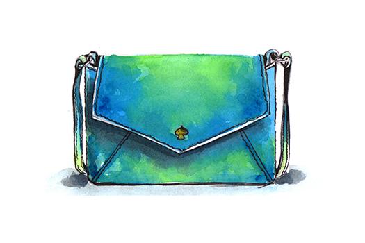 watercolor shoulder bag shutterstock