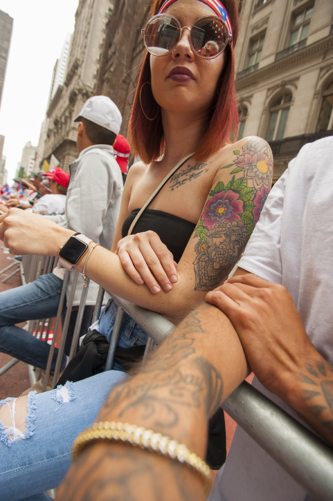 The 61st Annual National Puerto Rican Day Parade was held on New York City's Fifth Avenue on Sunday, June 10, 2018 under cloudy skies. The threat of rain and cool temps kept the crowds at bay but a lively parade was had by all.