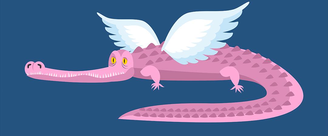 flying alligator shutterstock