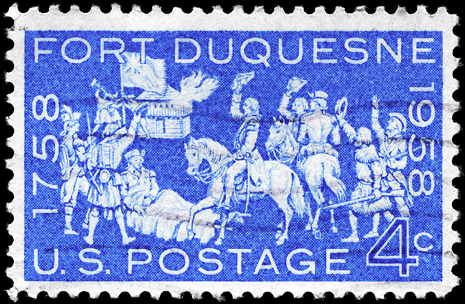 fort duquesne stamp shutterstock