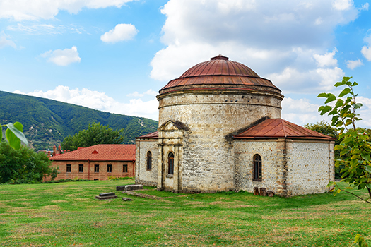 old khan mosque sheki shutterstock