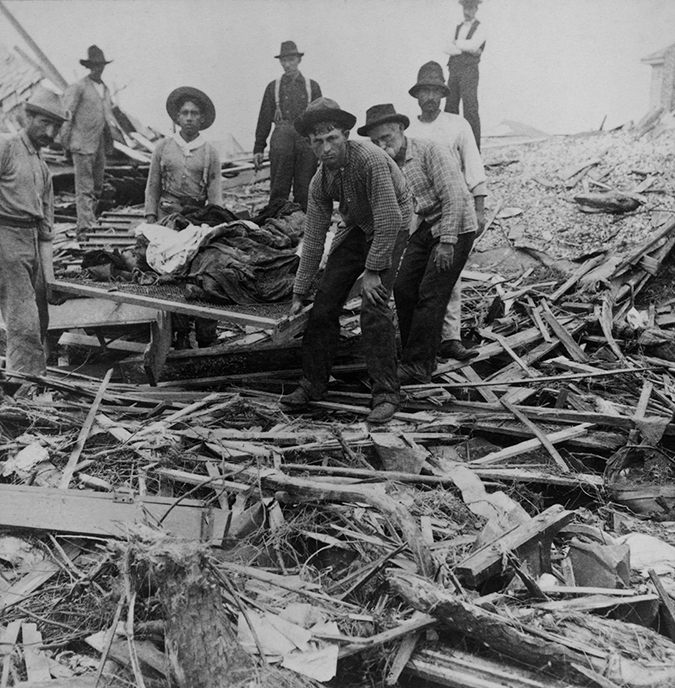 1900 galveston hurricane shutterstock