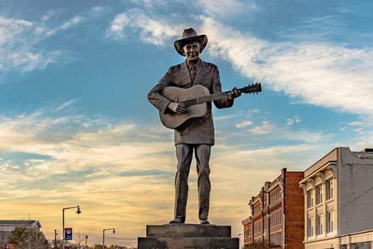 hank williams statue shutterstock