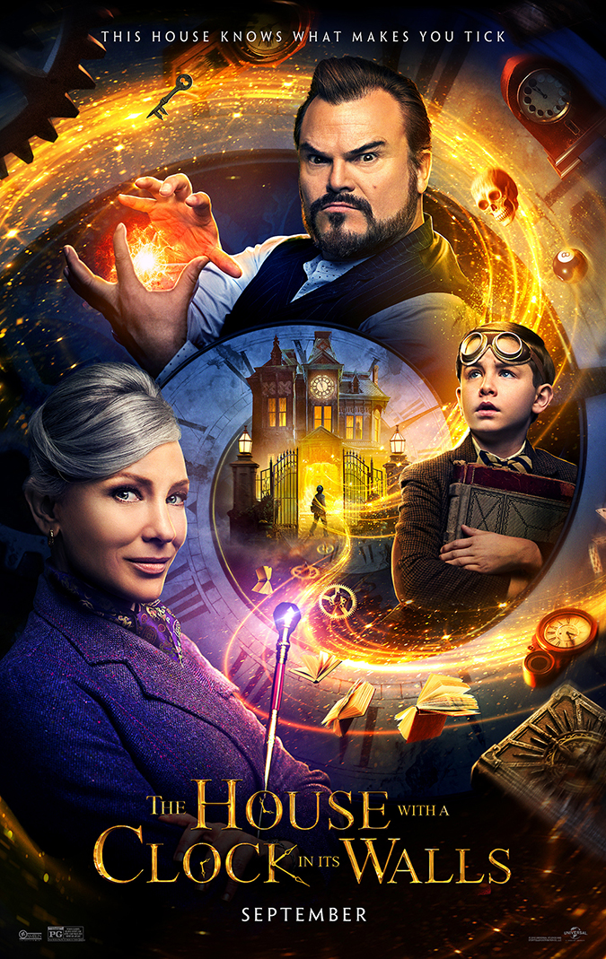 house with clock movie poster