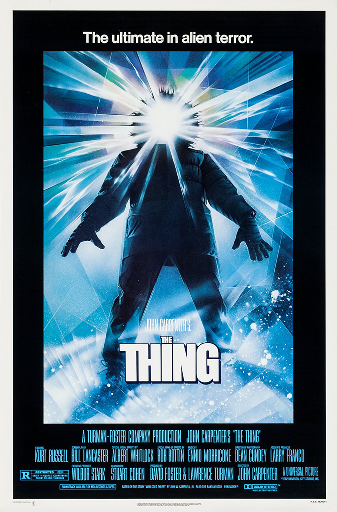 the thing 1982 movie poster