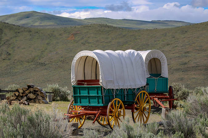 covered wagon - CSNafzger - shutterstock - embed