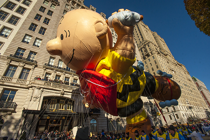 20181122©DayMacyPrde2389.jpg The 92st Macy's Thanksgiving Day Parade kicked off under sunny skies and cool temperatures as hundreds of thousands line the parade route to celebrate the clowns, floats, and balloons fly by, starting the holiday season in New York City.