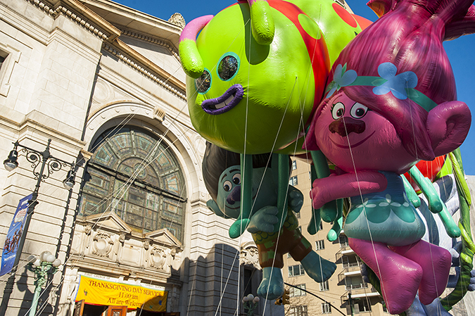 20181122©DayMacyPrde2968.jpg The 92st Macy's Thanksgiving Day Parade kicked off under sunny skies and cool temperatures as hundreds of thousands line the parade route to celebrate the clowns, floats, and balloons fly by, starting the holiday season in New York City.