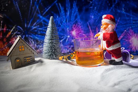 santa with whisky - Ilkin Zeferli - shutterstock