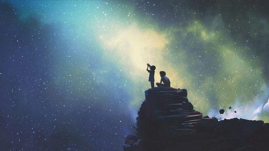 telescope scene - Tithi Luadthong - shutterstock