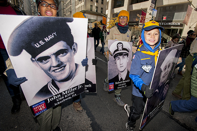 20181111©DAYVetsDay0123.jpg The 100th Anniversary of the WW1 Armistiice was commemorated by the Vets Day Parade rolling up 5th Avenue.