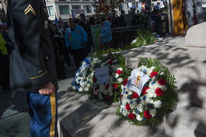 20181111©DAYVetsDay9744.jpg The 100th Anniversary of the WW1 Armistiice was commemorated by the Vets Day Parade rolling up 5th Avenue.