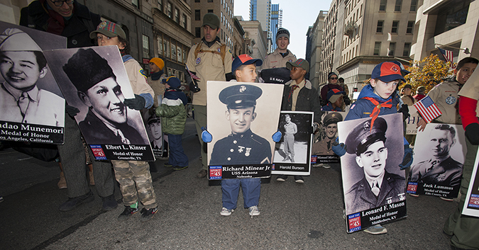 20181111©DAYVetsDay0116.jpg The 100th Anniversary of the WW1 Armistiice was commemorated by the Vets Day Parade rolling up 5th Avenue.