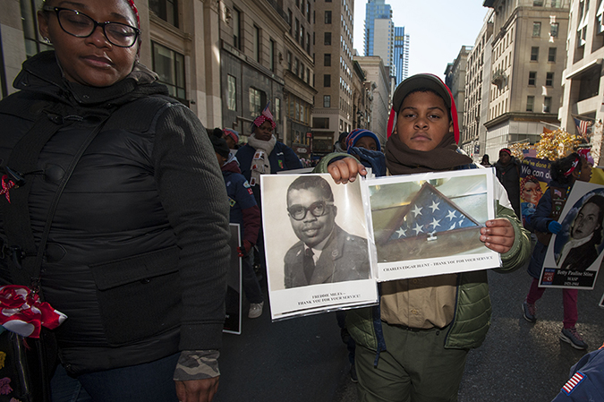 20181111©DAYVetsDay0092.jpg The 100th Anniversary of the WW1 Armistiice was commemorated by the Vets Day Parade rolling up 5th Avenue.