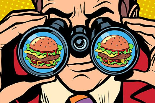 burger pop art - studiostoks - shutterstock
