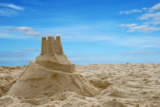 sand castle - Becky Stares - shutterstock