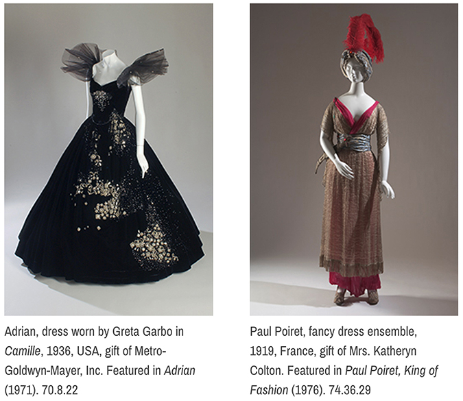 Adrian, Paul Poiret Dresses ©FIT