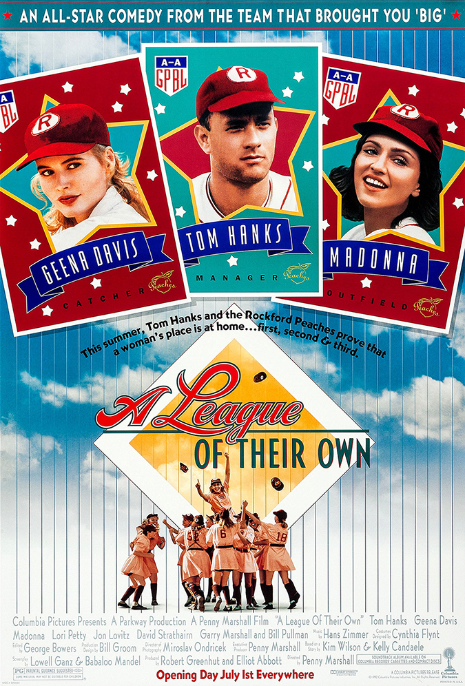 a league of their own movie poster - sony pictures home entertainment