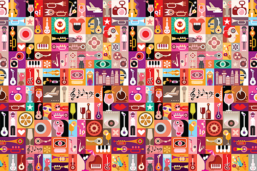 art collage - musical vector - danjazzia - shutterstock