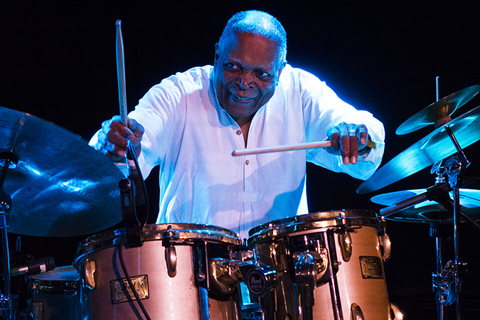 20190112©DayWinterJazzFest3893ajpg The 15th Anual Winter JazzFest played over a cold weekend from January 5th- January 12th. Billy Hart playing Saturday night at Le Poisson Rouge with Billy Hart Quartet.