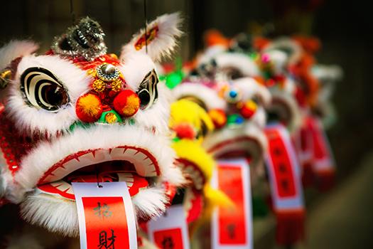 chinese lion - redstone - shutterstock