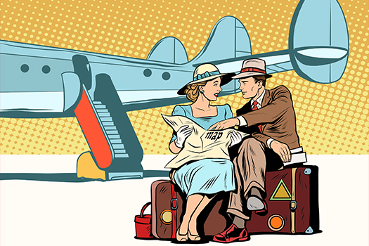 couple with map - pop art - studiostoks - shutterstock
