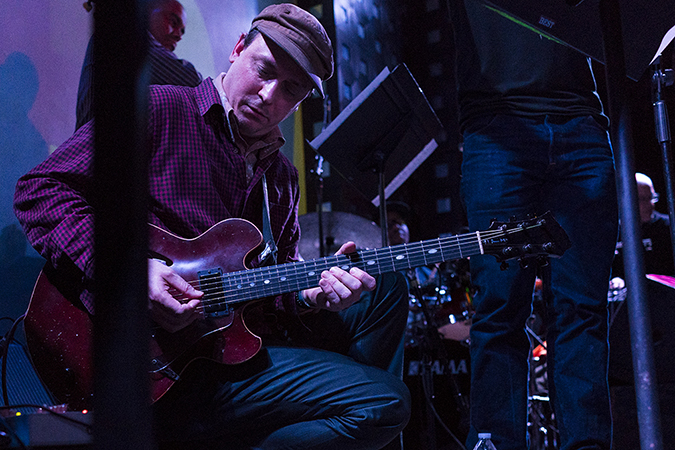 20190111©DayWinterJazzFest1314ajpg The 15th Anual Winter JazzFest played over a cold weekend from January 5th- January 12th. Kurt Rosenwinkel playing Friday night at Le Poisson Rouge.