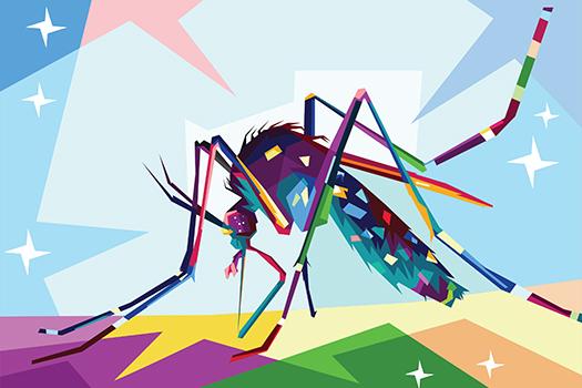 mosquito pop art - Rizky Dwi - shutterstock