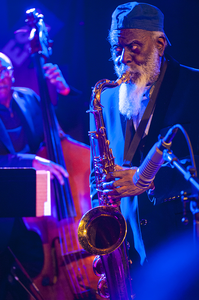 "20190110©DayWinterJazzFest4947.jpg The 15th Anual Winter JazzFest played over a cold weekend from January 5th- January 12th. Pharoah Sanders playing Thursday night at Le Poisson Rouge with Gary Bartz; 50 year Anniversary of ""Another Earth"""