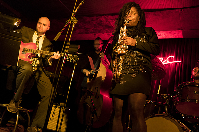 20190105©DayWinterJazzFest0880a.jpg The 15th Anual Winter JazzFest played over a cold weekend from January 5th- January 12th. Tia Fuller playing Saturday night at Zinc Bar with Diamond Cut.