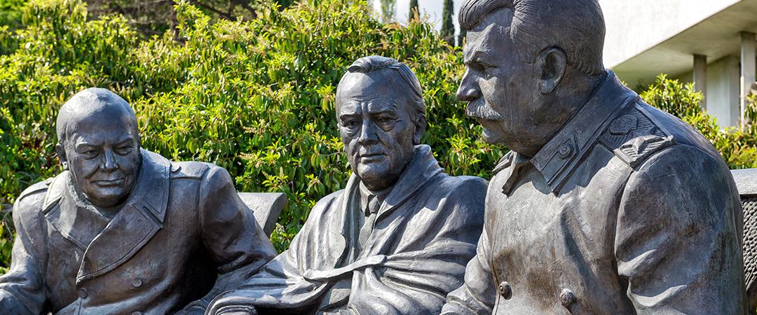 yalta agreement statues - Viacheslav Lopatin - shutterstock