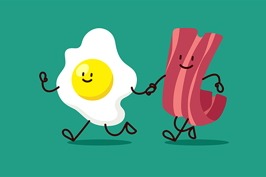 bacon and egg buddies - Kate Kalita - shutterstock
