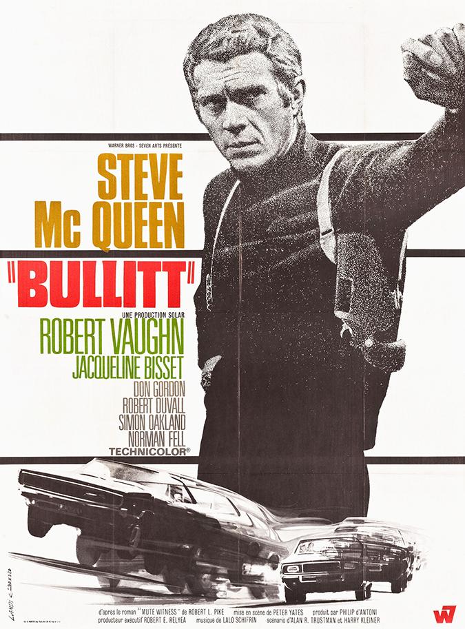 bullitt movie poster - warner home video
