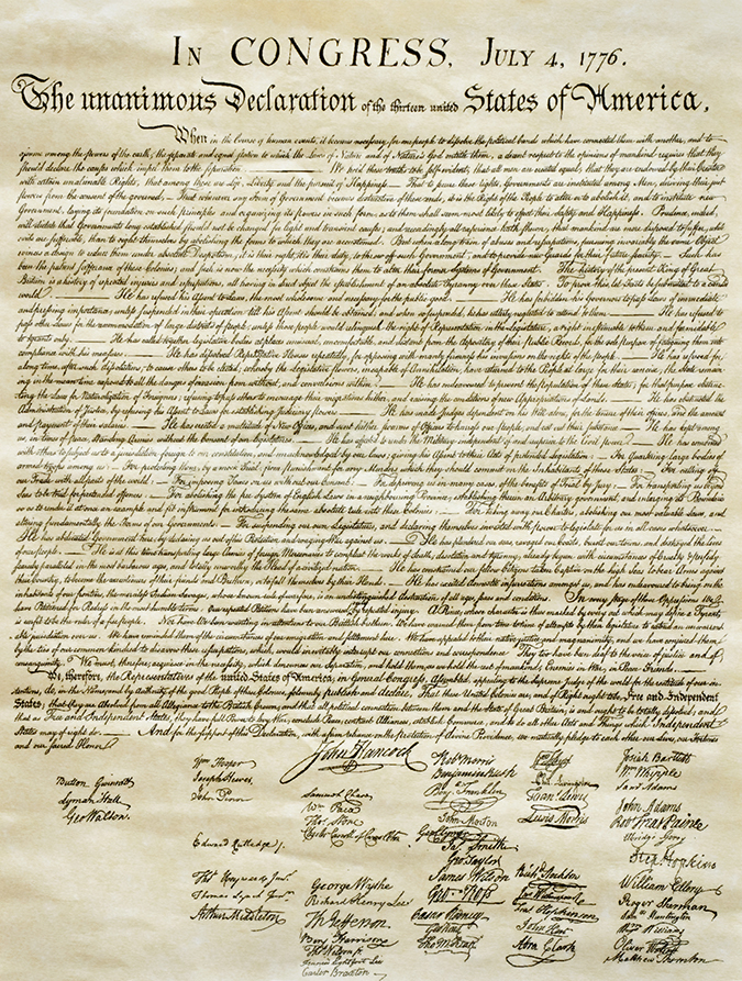 declaration of independence - Susan Law Cain - shutterstock - embed
