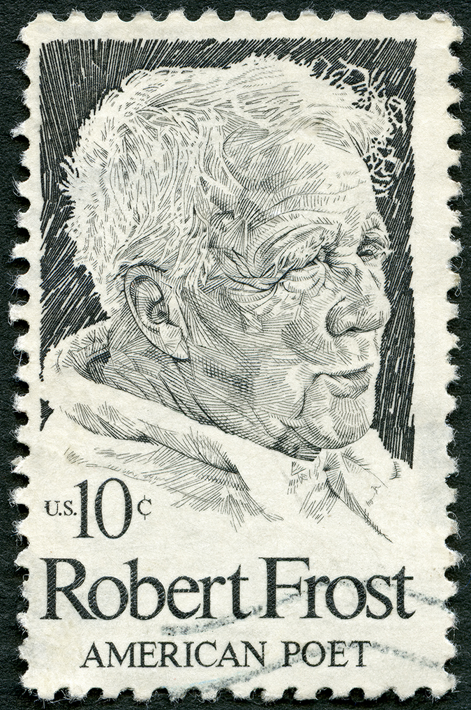 robert frost stamp - Olga Popova - shutterstock - embed