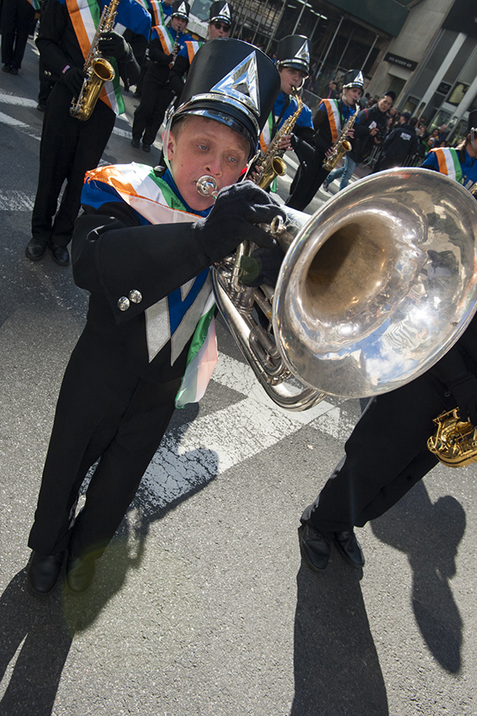 20190316©DayStPatsPrd78232.jpg The 258th ST Patrick's parade kicked off on a crisp mostly cloudy Saturday morning. Hundreds of thousands watched 150,000 participants march up Fifth Ave as the bands played and bagpiper sang the usual Irish fare.