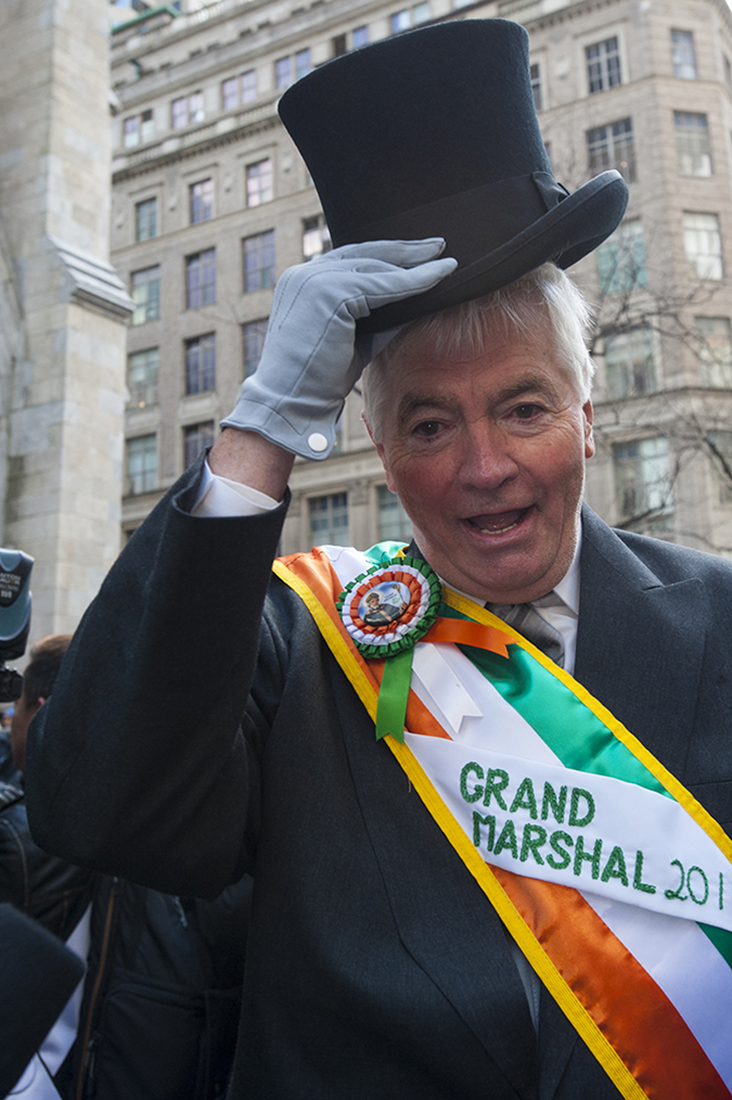 20190316©DayStPatsPrd6498.jpg The 258th ST Patrick's parade kicked off on a crisp mostly cloudy Saturday morning. Hundreds of thousands watched 150,000 participants march up Fifth Ave as the bands played and bagpiper sang the usual Irish fare.