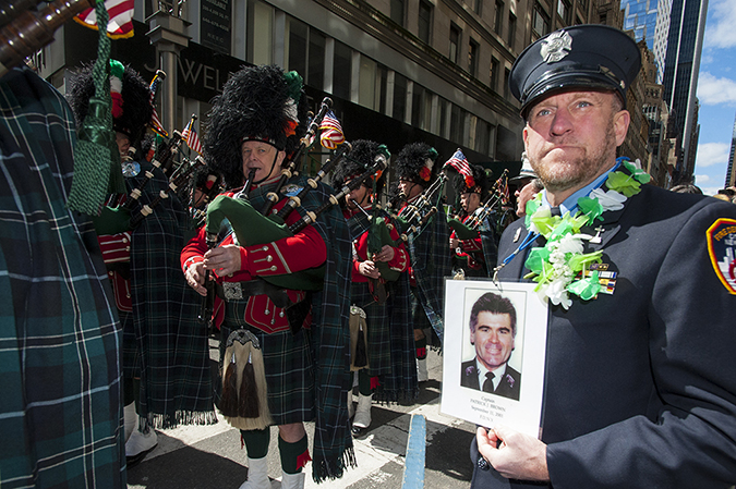 20190316©DayStPatsPrd7181.jpg The 258th ST Patrick's parade kicked off on a crisp mostly cloudy Saturday morning. Hundreds of thousands watched 150,000 participants march up Fifth Ave as the bands played and bagpiper sang the usual Irish fare.