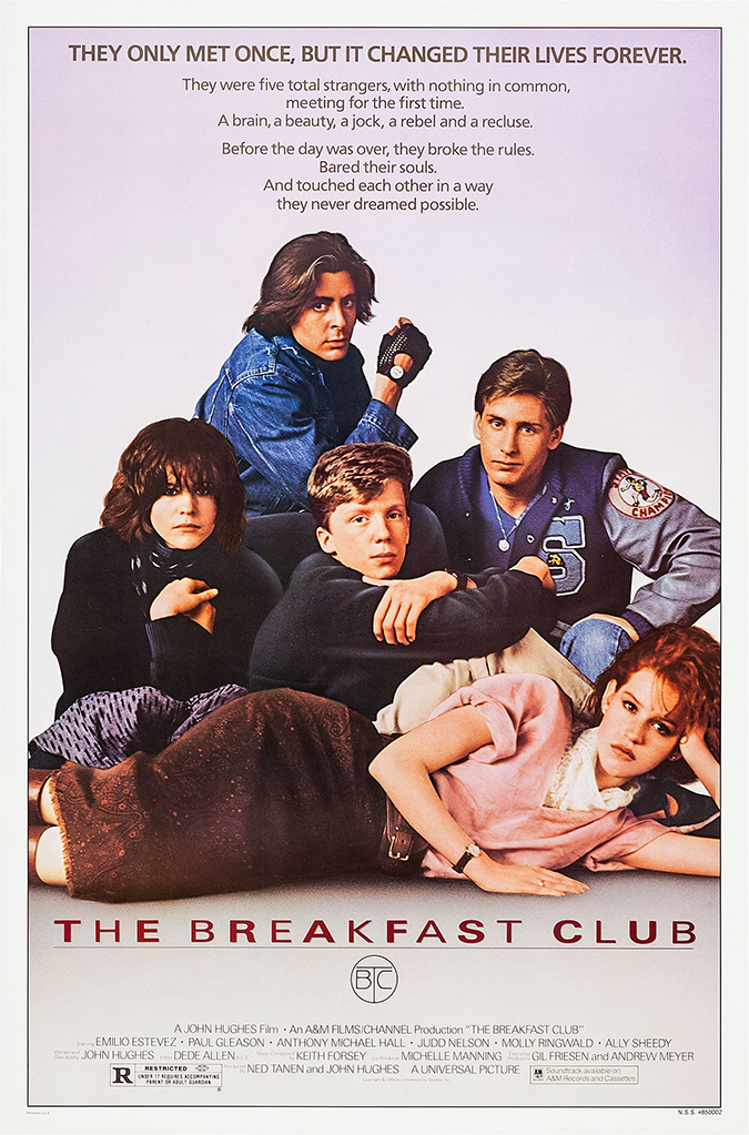 breakfast club poster - universal studios home entertainment - embed