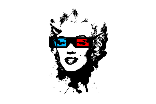 marilyn monroe - 3d glasses - GrayCatAca - Shutterstock