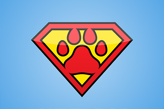 super dog logo - Lasteek - Shutterstock