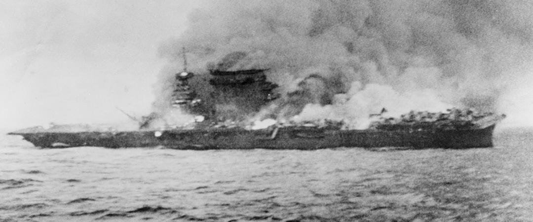 battle of the coral sea - uss lexington - shutterstock - everett historical