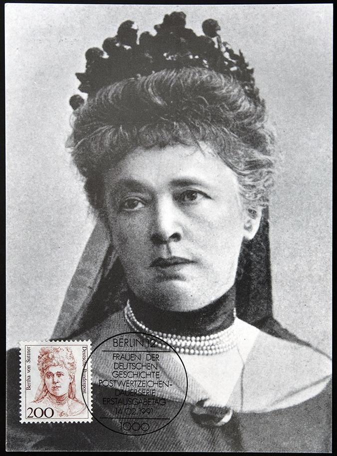 bertha von suttner stamp - neftali - shutterstock